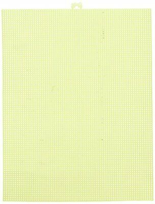 Darice Plastic Canvas, Neon Yellow, 10.5 x 13.5 -12 Pac