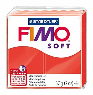 FIMO Soft Modelling Clay 56g Block Indian Red