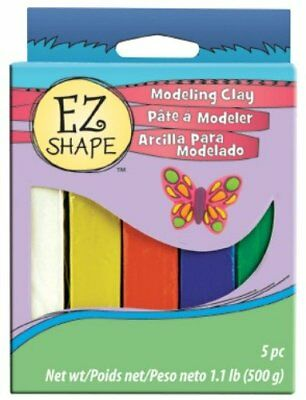 Sculpey 5-Piece EZ Shape Modeling Clay, Primary Color S