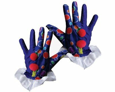 Blue Clown Gloves By Dress Up America