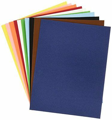 Hygloss 1185 Assorted Colors 10 Sheets Velour Paper