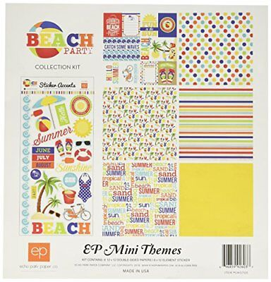 """Echo Park Paper Beach Party Collection Kit, 12"""" by 12"""""""