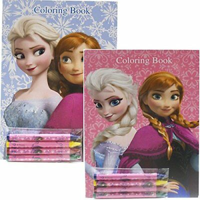 Disney Frozen Coloring Books Blue and Pink Elsa Anna (2