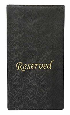 Pew Sash Reserved Black with gold Letters