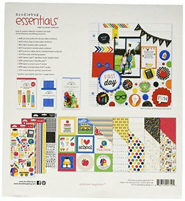 """Doodlebug Back to School Essentials Page Kit, 12 by 12"""""""