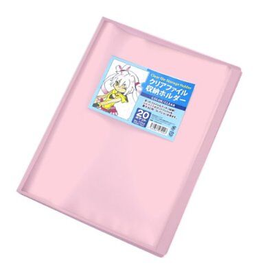 Clear File Storage Holder Clear Pink by Koade