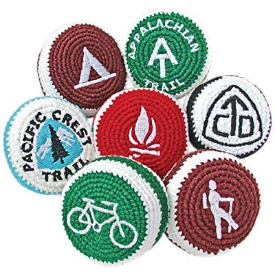 Adventure Trading Crocheted Camp Footbags 4 Pack