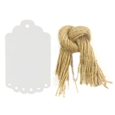 Allydrew 50 Gift Tags/Kraft Hang Tags with Free Cut Str