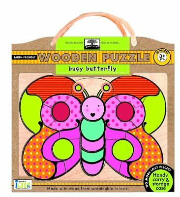 Green Start Wooden Puzzles: Busy Butterfly - Earth Frie