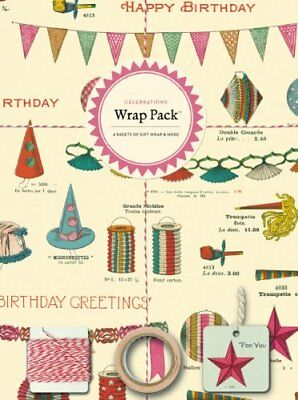Cavallini Papers 4-Sheet Wrap Pack, Celebrations