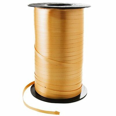 3/16 Crimped Curling Ribbon 500 Yards Spool, GOLD Color