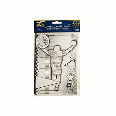 Bulk Buys Football Canvas Colorable - Pack Of 24