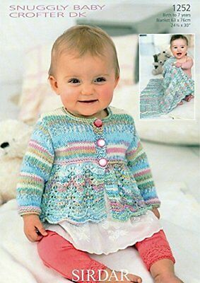 Cardigan and Blanket in Sirdar Snuggly Baby Crofter DK
