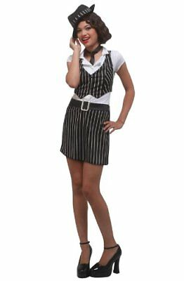 Mobster Girl Teen Costume Size 3-5