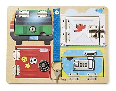 Melissa & Doug Locks and Latches Board Wooden Education