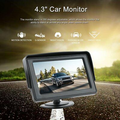 """4.3"""" Stand LCD Screen Monitor Display+Car Rear View Reverse Camera with LEDs"""