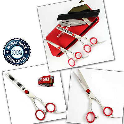 Professional Hair Cutting+Thinning Scissors Barber Shears Hairdressing Set 6.5""