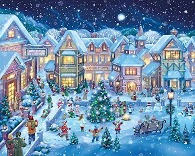 Holiday Village Square Christmas Jigsaw Puzzle 1000 Pie