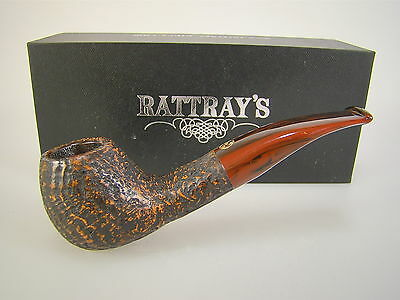 Rattray's Pipe Pfeife The Clan Brauner Kontrast Sandgestrahlt 9mm #106
