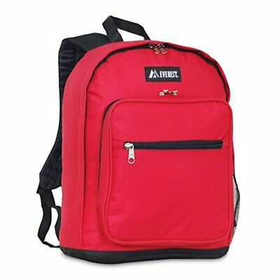 Everest Luggage Classic Backpack, Red, Medium