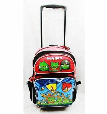 "Angry Birds Large 16"" Rolling Backpack - Metallic Blue"
