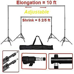 Adjustable Background Backdrop Support Stand Crossbar S