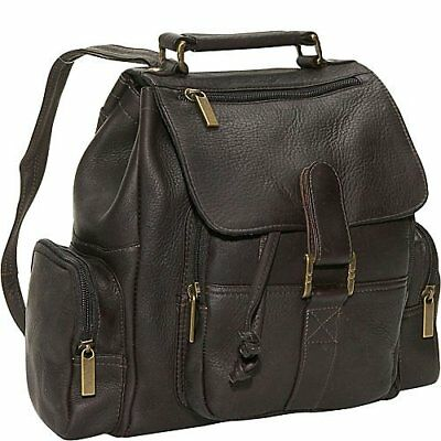 David King & Co. Mid Size Top Handle Backpack, Cafe, On