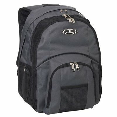 Everest Luggage Laptop Computer Backpack, Charcoal/Blac