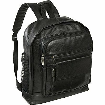 AmeriLeather Traditional Leather Backpack (Black)