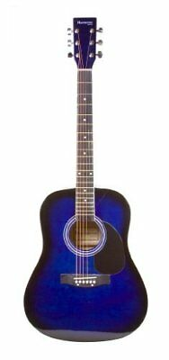 Full Size Dreadnought BLUE Acoustic Guitar with Free Ca