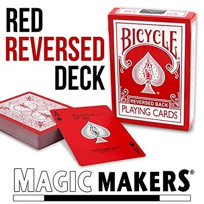 Magic Makers Bicycle Reverse Back Red Deck