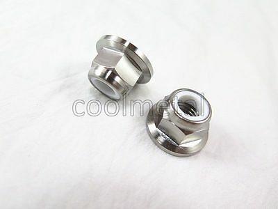 2PC Titanium Flange Nylon Lock Nut M10 x 1.5mm Hex Nut M10 No rust