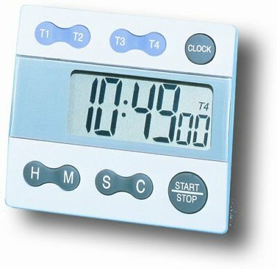 General Tools TI388 Digital Timer, Four Channel with Cl