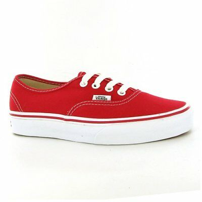 VANS Unisex Authentic Red Canvas VN000EE3RED Mens 4, Wo