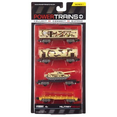 Power City Trains Freight Military 4 pack