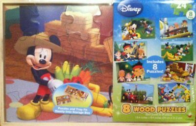 Disney Jake the Pirate and Mickey Mouse 8 Wood Puzzles