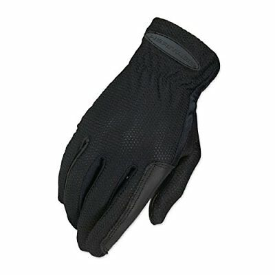 Heritage Pro-Flow Summer Show Gloves, Size 7, Black