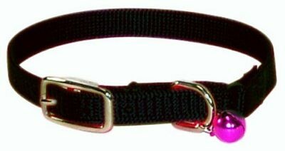 """Hamilton Safety Cat Collar with Bell, Black, 3/8"""" Wide"""