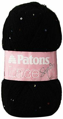 Patons Lace Sequin Yarn, Onyx