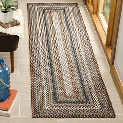 Safavieh Braided Collection BRD313A Hand Woven Brown an