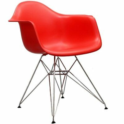 LexMod Paris Wire Armchair in Red