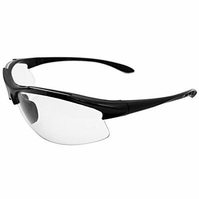 ERB 18614 Commandos Safety Glasses, Black Frame with Cl