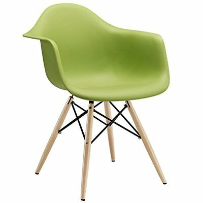 Modway Wood Pyramid Armchair in Green