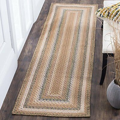Safavieh Braided Collection BRD314A Hand Woven Tan and