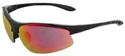 ERB 18611 Commandos Safety Glasses, Black Frame with Re