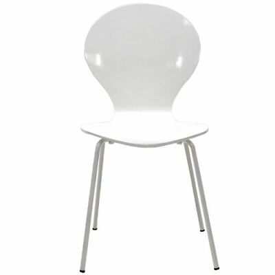 Modway Insect Dining Wood Side Chair in White