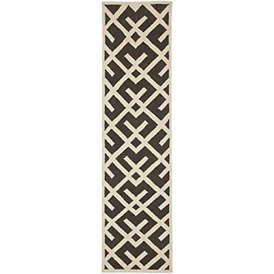Safavieh Dhurries Collection DHU552C Hand Woven Brown a