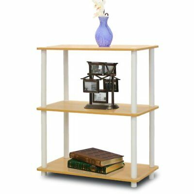 Furinno 10024BE/WH Turn-N-Tube 3-Tier Compact Multipurp