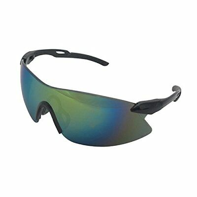 ERB 15424 Strikers Safety Glasses, Black Frame with Gol