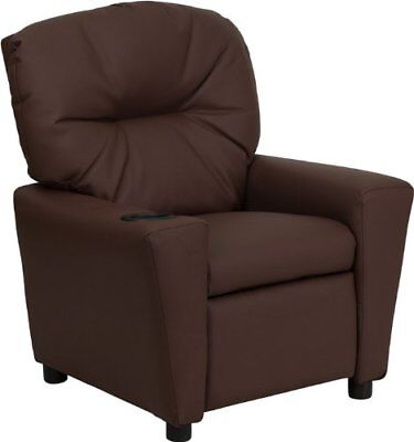 Flash Furniture Contemporary Brown Leather Kids Recline